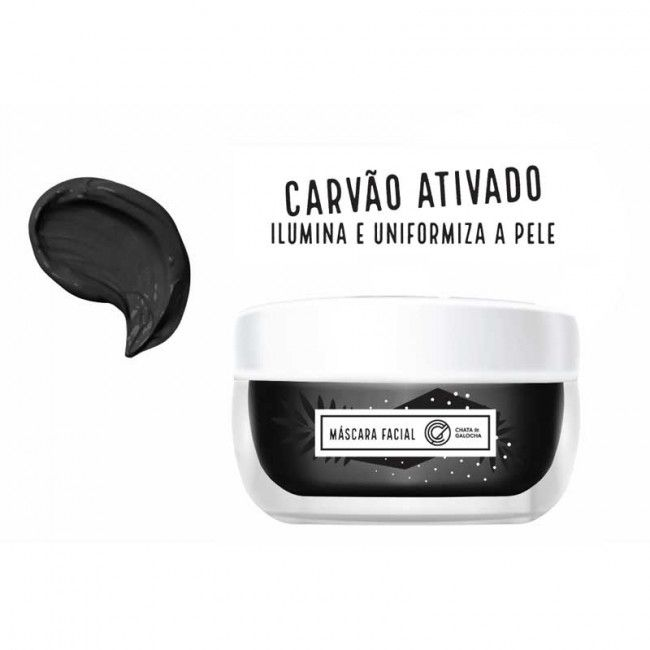 Máscara Facial Carvão Ativado - Chata de Galocha 40g