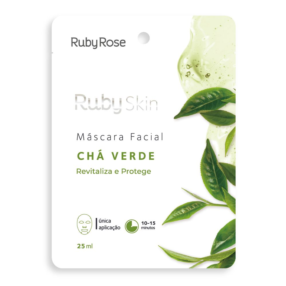 Máscara Facial Chá Verde - Ruby Rose