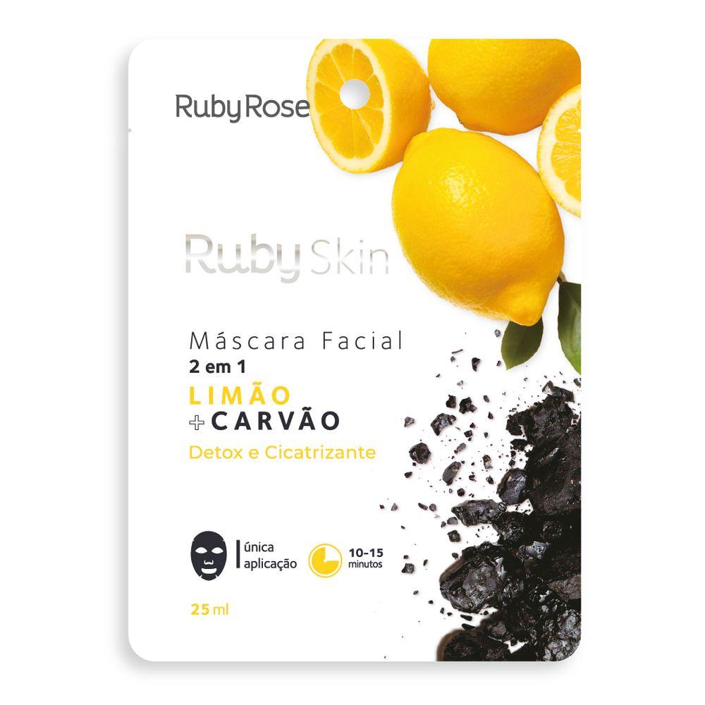 Máscara Facial Limão e Carvão - Ruby Rose