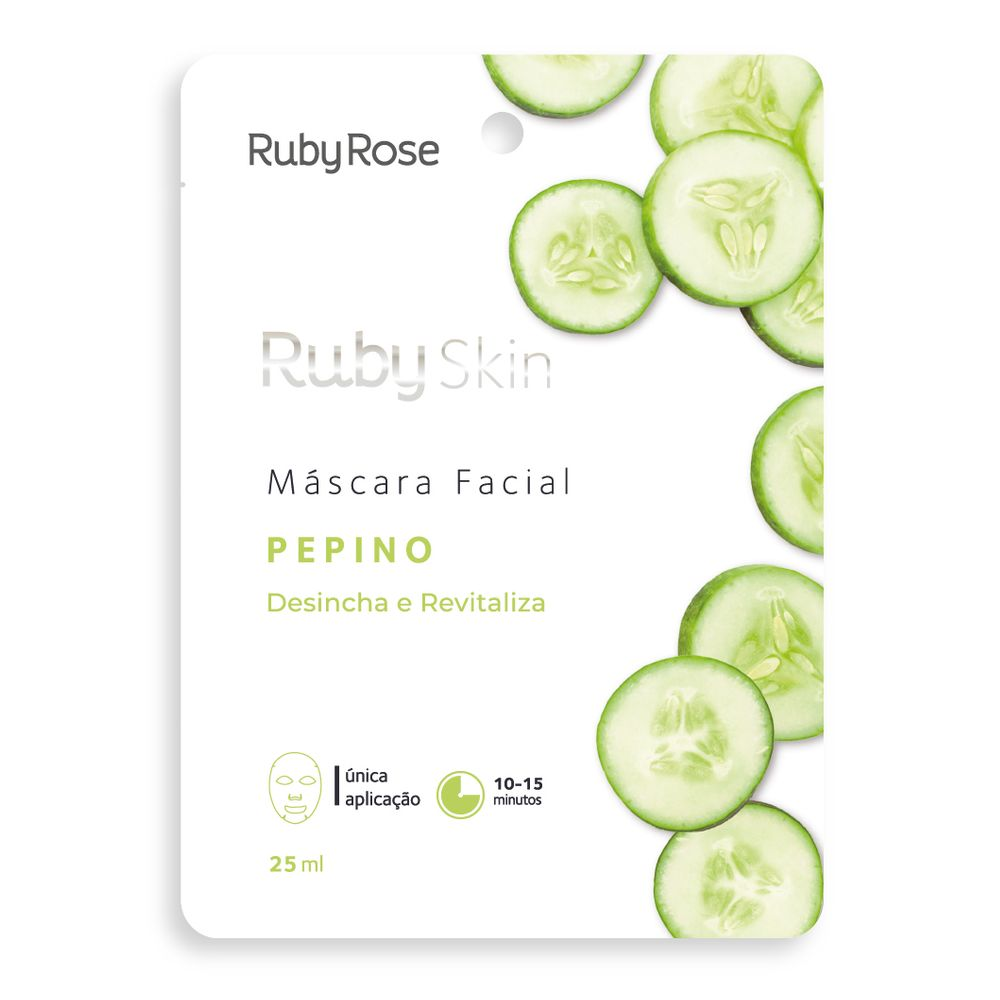 Máscara Facial Pepino - Ruby Rose