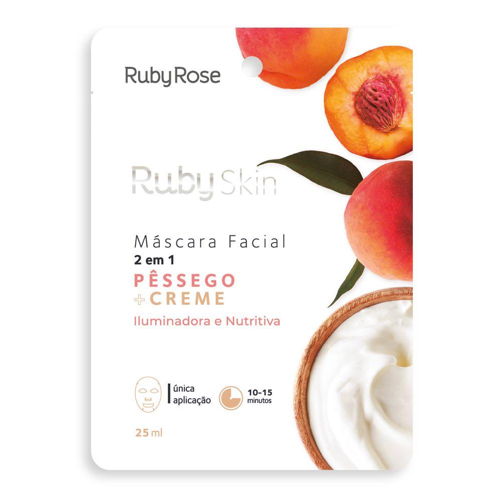 Máscara Facial Pêssego e Creme - Ruby Rose