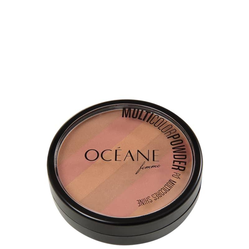 Pó Multicolor Powder Bronzer Océane - Pó Compacto 3 em 1 7,2g