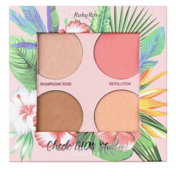 Paleta Cheek Glow Studio - Ruby Rose