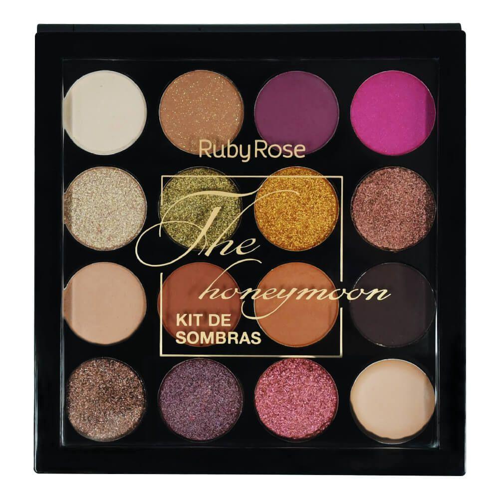 Paleta de Sombras The Honeymoon - 15 Cores Ruby Rose
