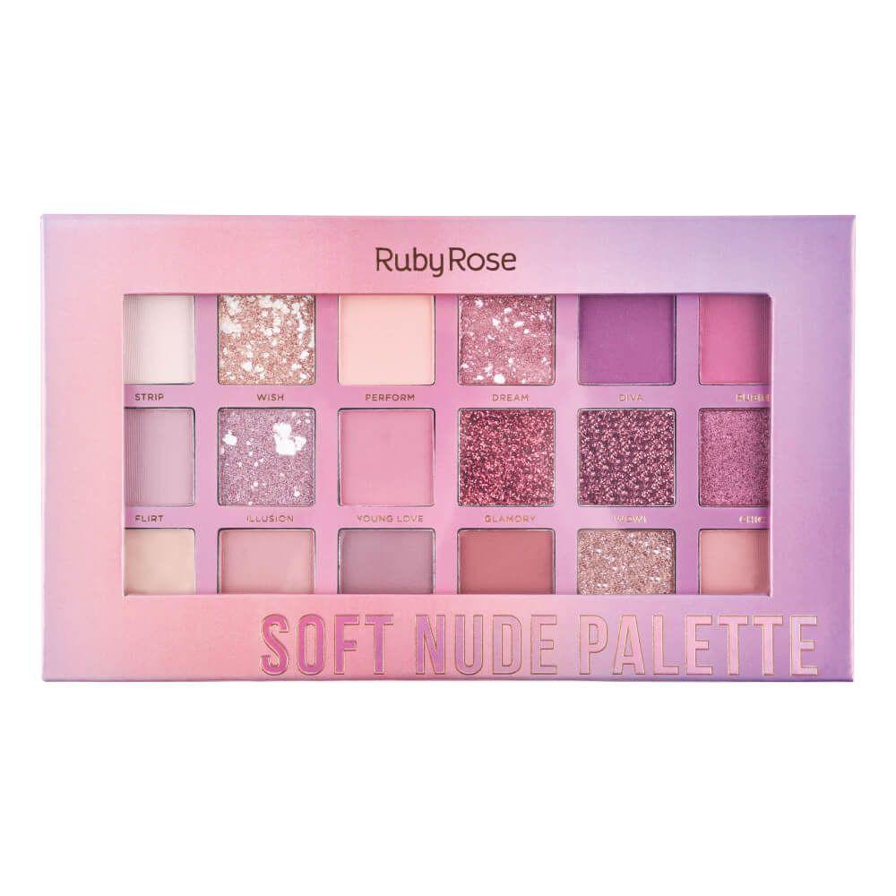 Paleta Soft Nude Feels Ruby Rose - 14,4g