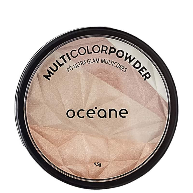 Pó Multicolor Powder Ultra Glam Océane - Pó 3 em 1 9,5g