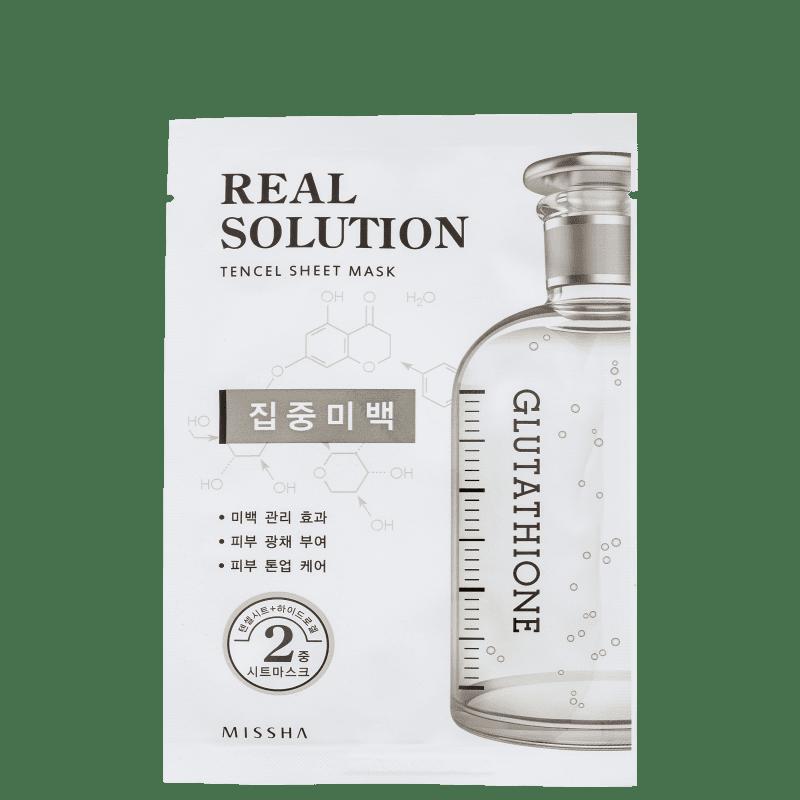 Real Solution Pure Whitening Missha - Máscara Facial 25g
