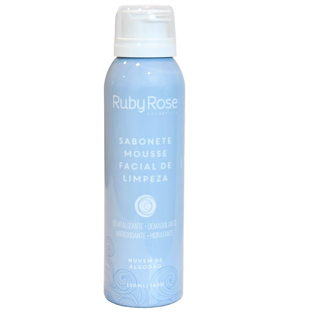 Sabonete Mousse de Limpeza Facial Nuvem de Algodão - Ruby Rose 150ml