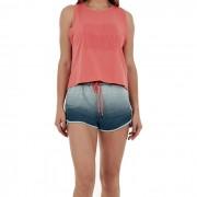 Shorts Alto Giro Skin Fit Mescla Colors