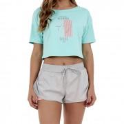 T-Shirt Alto Giro Fax Cropped