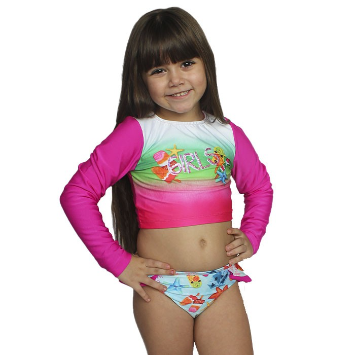 Biquini Kids Cia do Broto Sensitive Girls Protecao UV 50+