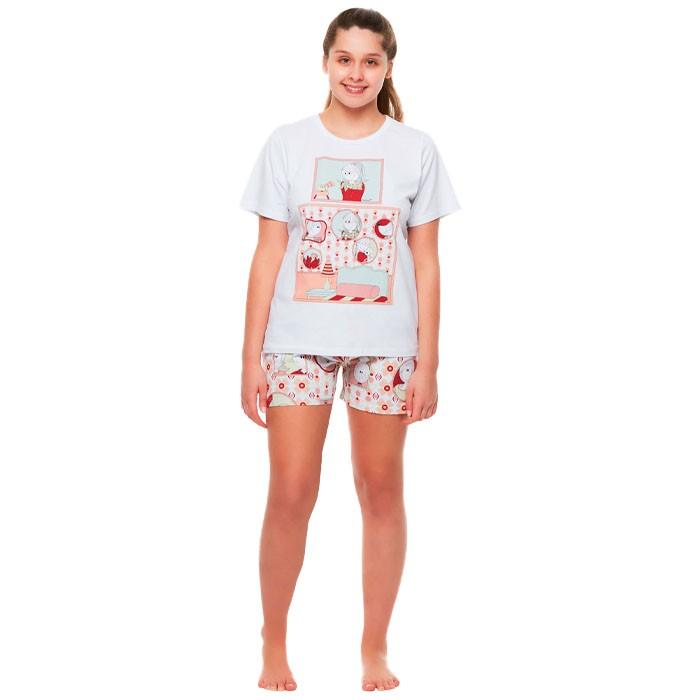 Pijama Sonhart Manga Curta e Short Retratos