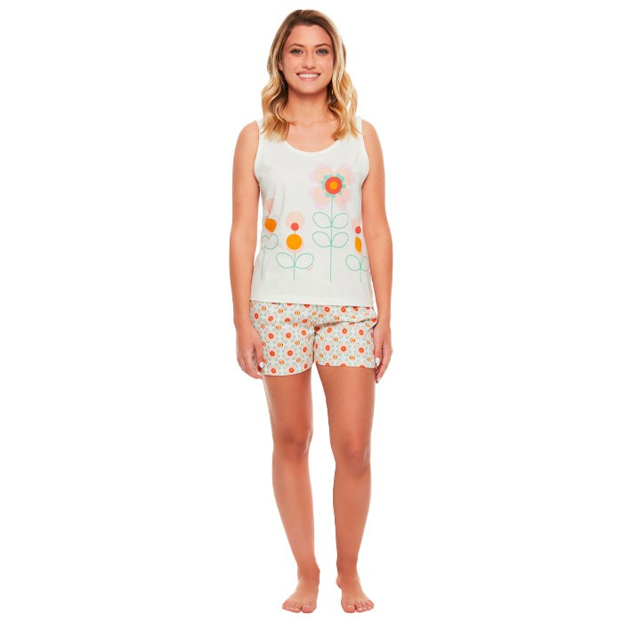 Pijama Sonhart Regata e Short Florido
