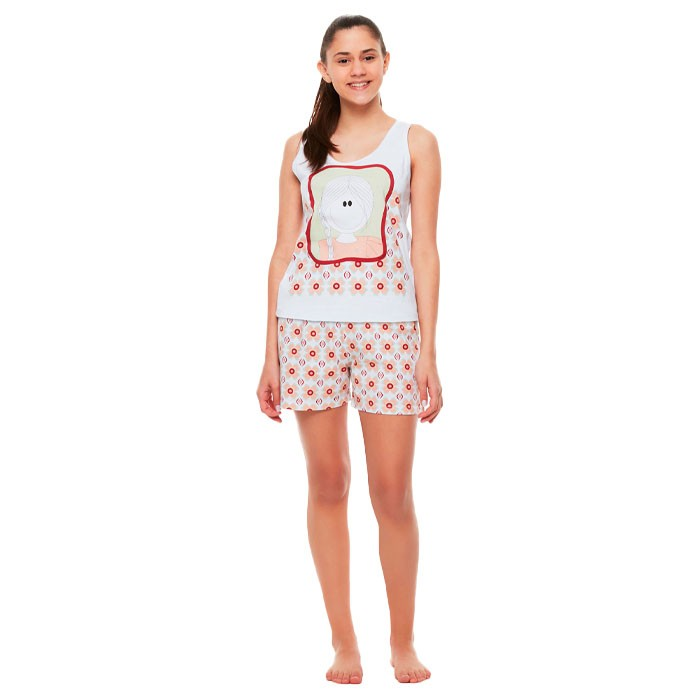 Pijama Sonhart Regata e Short Pat
