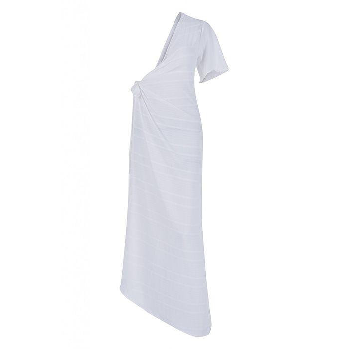Saida Alto Giro Beachwear Vestido Silk Plisse