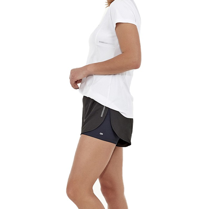 Shorts Alto Giro Moscow Refletivo Sobreposto