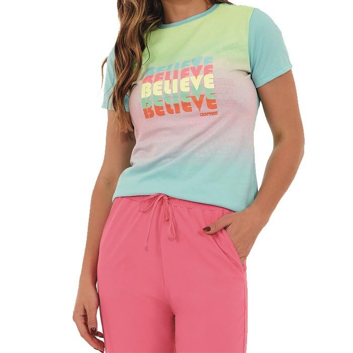 T-shirt Alto Giro Confort Dry Believe
