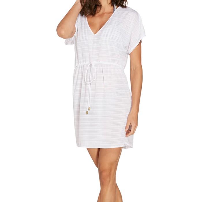 Vestido Curto Acqua by Classic Liso Com Amarração Na Cintura
