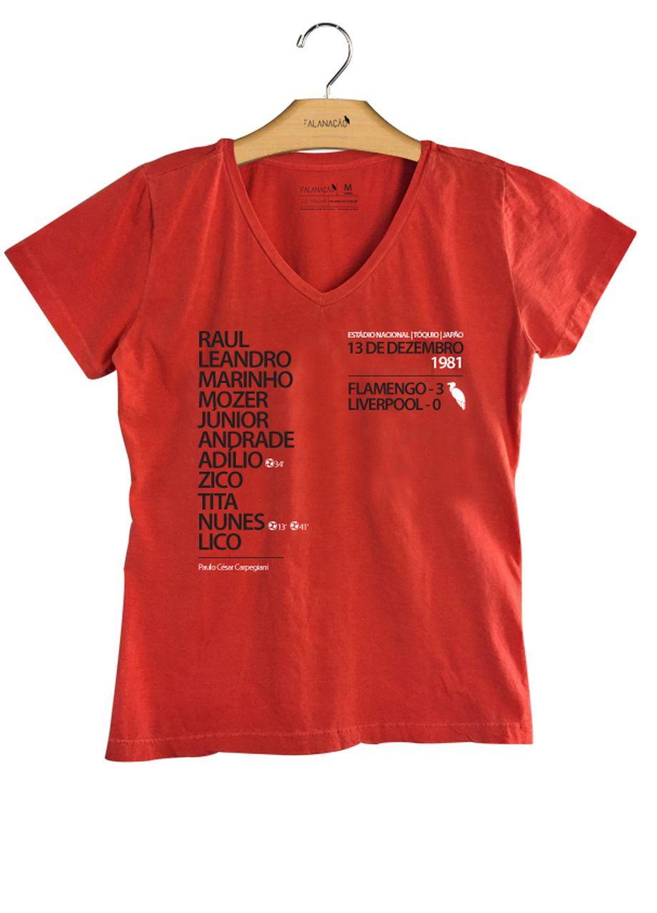T-Shirt Feminina Escalação 81 - Vermelha