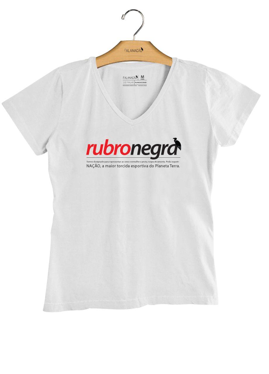 T-Shirt Feminina Rubro-Negra - Branca