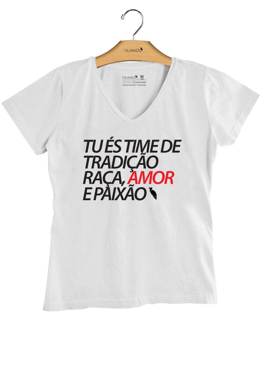 T-Shirt Feminina Tradição - Branca