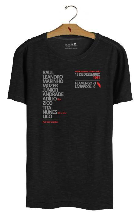 T•Shirt Escalação 1981 - Preta