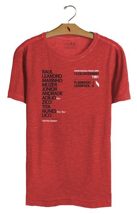 T•Shirt Escalação 1981 - Vermelha
