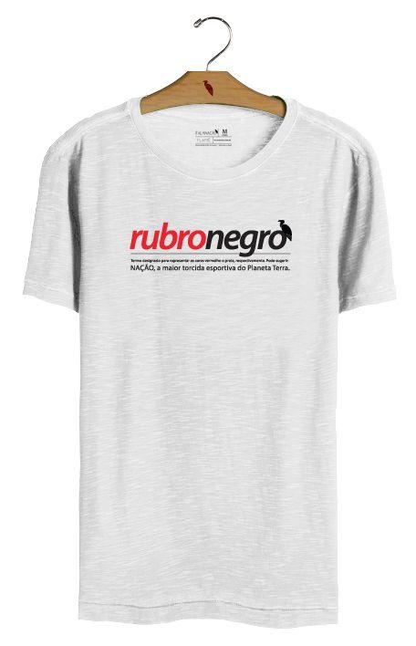 T•Shirt Rubro-Negro - Branca