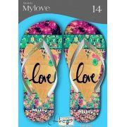 Kit com 12 pares de chinelos atacado para revenda  Milly My love mod.13