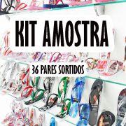 Kit Amostra com 36 pares de chinelos Sortidos. Várias estampas