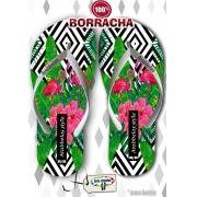 Kit com 12 pares de chinelos atacado para revenda Arabbelas Floral  Mod. 04