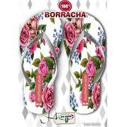 Kit com 12 pares de chinelos atacado para revenda Arabbelas Floral  Mod. 11