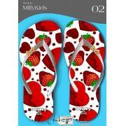 Kit com 12 pares de chinelos atacado para revenda  Milly kids metalizada mod.02