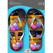 Kit com 12 pares de chinelos atacado para revenda  Milly My love mod.03