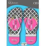 Kit com 12 pares de chinelos atacado para revenda  Milly My love mod.08