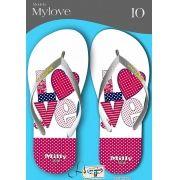 Kit com 12 pares de chinelos atacado para revenda  Milly My love mod.09