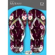 Kit com 12 pares de chinelos atacado para revenda  Milly My love mod.11