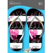 Kit com 12 pares de chinelos atacado para revenda  Milly My love mod.15
