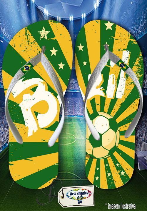 Kit com 12 pares  Brasil 03  - Arte Chinelos Atacado