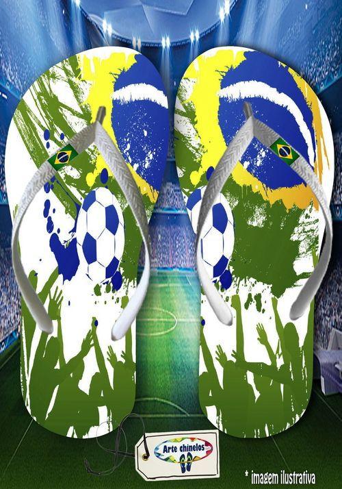 Kit com 12 pares  Brasil 04  - Arte Chinelos Atacado