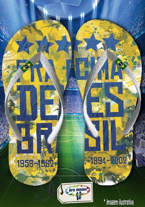 Kit com 12 pares  Brasil 05  - Arte Chinelos Atacado