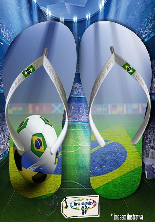 Kit com 12 pares  Brasil 07  - Arte Chinelos Atacado