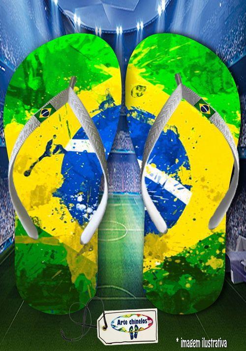 Kit com 12 pares  Brasil 09  - Arte Chinelos Atacado