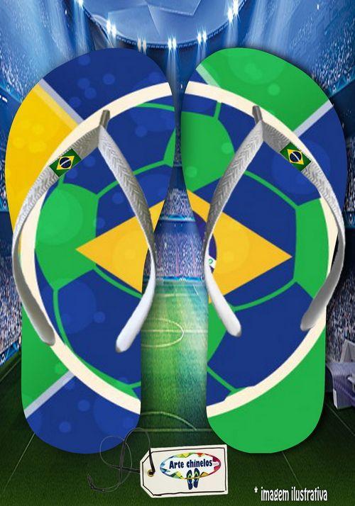 Kit com 12 pares  Brasil 10  - Arte Chinelos Atacado