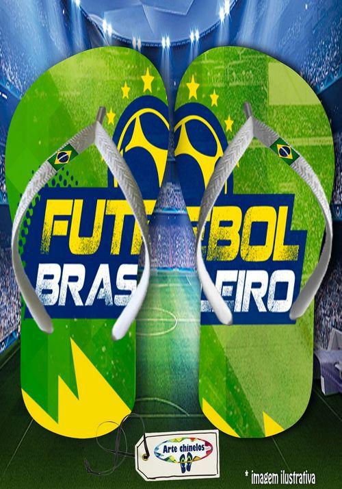 Kit com 12 pares  Brasil 11  - Arte Chinelos Atacado