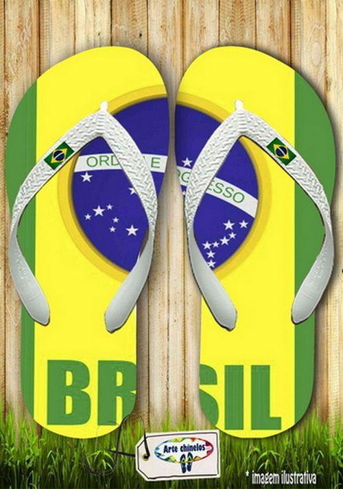 Kit com 12 pares  Brasil Masc 01  - Arte Chinelos Atacado
