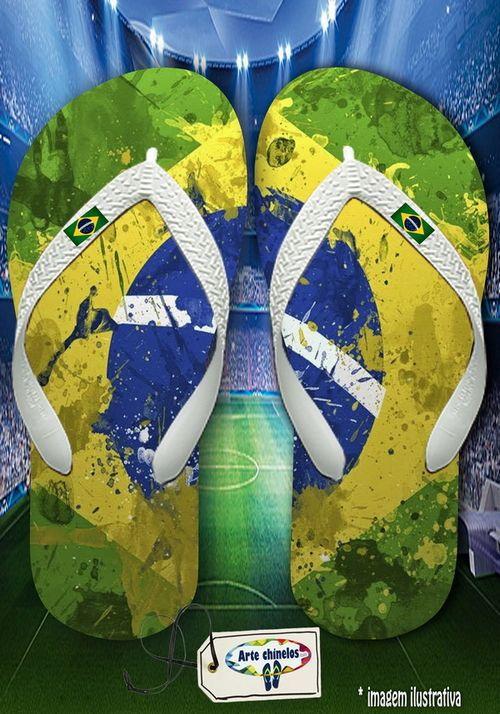 Kit 12 pares de chinelos atacado Brasil Masc 02