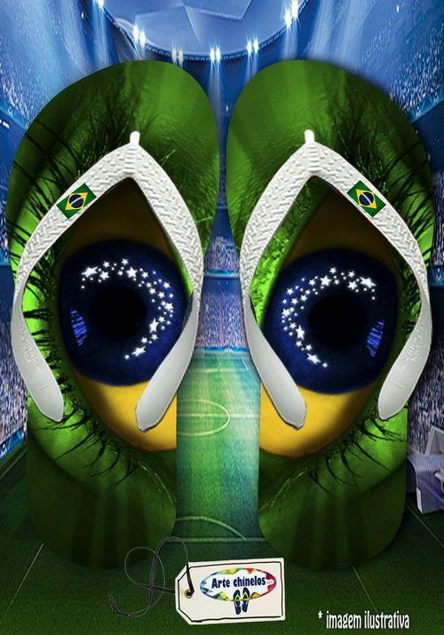 Kit 12 pares de chinelos atacado Brasil Masc 08