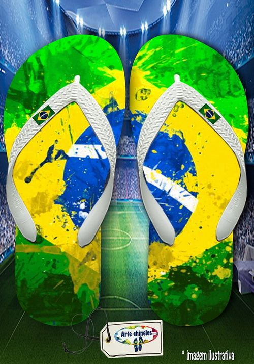 Kit 12 pares de chinelos atacado Brasil Masc 09