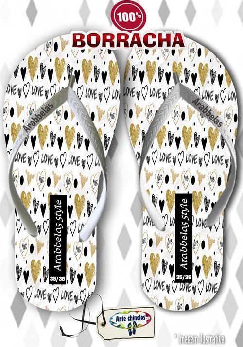 Kit com 12 pares de chinelos atacado para revenda Arabbelas Fashion  Mod. 04  - Arte Chinelos Atacado